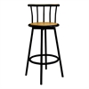 Set of 2 Swivel Barstools - Black, Set of 2