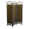Ore International 3-Panel Room Divider - Antique Gold