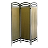 Ore International 3-Panel Room Divider - Pewter