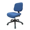 Ore International Blue Youth Comfortable Adjustable Chair With Castors