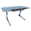 Ore International Blue Youth's Ergonomic Desk With Keyboard Tray