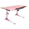 Ore International Pink Youth's Ergonomic Desk With Keyboard Tray