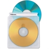 Fellowes Double-Sided CD/DVD Sleeves - 50 pack - Plastic - Clear - 2 CD/DVD