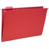 "Smead Colored Hanging Folders with Tabs - Legal - 8 1/2"" x 14"" Sheet Size - 1/5 Tab Cut - Red - Recycled - 25 / Box"