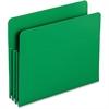"Smead Poly File Pockets - Letter - 8 1/2"" x 11"" Sheet Size - 3 1/2"" Expansion - Polypropylene - Green - 4 / Box"