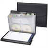 """Smead Poly Pro Series II Pad Folio with Expanding File - Letter - 8 1/2"""" x 11"""" Sheet Size - 4 Pocket(s) - Black - 1 Each"""