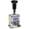 "Sparco Self-Inked 6 Wheels Automatic Numbering Machine - Number Stamp - 0.16"" Impression Width x 1"" Impression LengthMetal - 1 Each"