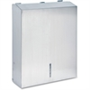 "Genuine Joe C-Fold/Multi-fold Towel Disp. Cabinet - C Fold, Multifold Dispenser - 15.5"" Height x 11.3"" Width x 4"" Depth - Stainless Steel - Silver"