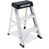 "Werner Step Stool Ladder - 300 lb Load Capacity - 17"" x 19"" x 24"" - Silver"