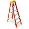 "Stepladder Ladder - 300 lb Load Capacity - 23.4"" x 41.3"" x 72"" - Orange"