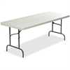 "Lorell Ultra Light Banquet Table - Rectangle Top - 96"" Table Top Width x 30"" Table Top Depth - 29"" Height - Platinum, Powder Coated"