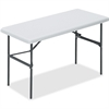"Lorell Ultra Light Banquet Table - Rectangle Top - 24"" Table Top Length x 48"" Table Top Width - 29"" Height - Platinum, Powder Coated"
