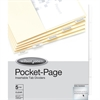 Wilson Jones® Pocket Page Dividers - 5 Tab(s) - 5 Tab(s)/Set - Paper Divider - Clear Polypropylene Tab(s) - 5 / Set