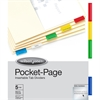 Wilson Jones® Pocket Page Dividers - 5 Tab(s) - 5 Tab(s)/Set - Paper Divider - Multicolor Polypropylene Tab(s) - 5 / Set