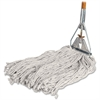 "Genuine Joe Cotton Wet Mop with Handle - 60"" x 0.94"" Cotton Head - Wood Handle - Lightweight - 1 Each"