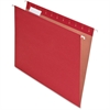 "Pendaflex 100% Recycled Paper Hanging Folder - Letter - 8 1/2"" x 11"" Sheet Size - 1/5 Tab Cut - Red - 25 / Box"
