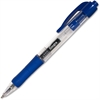 Integra Retractable Gel Pen - Fine Point Type - 0.5 mm Point Size - Point Point Style - Blue Gel-based Ink - Blue Barrel - 1 Dozen