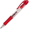 Integra Retractable Gel Pen - Fine Point Type - 0.5 mm Point Size - Point Point Style - Red - Red Barrel - 1 Dozen