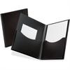 "Oxford Poly Double Stuff Twin Pocket Folders - Letter - 8 1/2"" x 11"" Sheet Size - 200 Sheet Capacity - 2 Pocket(s) - Polypropylene - Black - 1 Each"