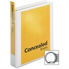 "Cardinal ProVue Non-Stick Concealed Rivet Round Ring Binder - 1 1/2"" Binder Capacity - Letter - 8 1/2"" x 11"" Sheet Size - 350 Sheet Capacity - 1 3/5"" Spine Width - 3 x Round Ring Fastener(s) - 2 Insid"