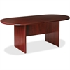 "Lorell Essentials Oval Conference Table - Oval Top - Slab Base - 36"" Table Top Length x 72"" Table Top Width x 1.25"" Table Top Thickness - 29.50"" Height - Assembly Required - Mahogany"