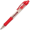 Integra Retractable Gel Ink Pen - Medium Point Type - 0.7 mm Point Size - Point Point Style - Red Gel-based Ink - Red Barrel - 1 Dozen
