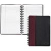 "TOPS Leatherette Executive Notebook - 96 Sheets - Printed - Twin Wirebound - 20 lb Basis Weight 8.25"" x 5.87"" - White Paper - Black, Burgundy Cover Textured - Leather Cover - 1Each"