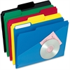 "Pendaflex Hot Pocket Poly File Folder - Letter - 8 1/2"" x 11"" Sheet Size - 1/3 Tab Cut - Top Tab Location - Poly - Assorted - 25 / Box"