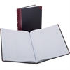 "Boorum & Pease 1602 1/2 Srs Single Pg Columnar Books - 75 Sheet(s) - Thread Sewn - 11.93"" x 9.87"" Sheet Size - White Sheet(s) - Red, Blue Print Color - Black, Red Cover - Bond Paper - 1 Each"