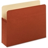 "Pendaflex Standard File Pockets - Contract Pack - Letter - 8 1/2"" x 11"" Sheet Size - 800 Sheet Capacity - 3 1/2"" Expansion - 22 pt. Folder Thickness - Redrope - Brown - 5 / Pack"