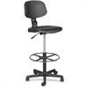 "Balt Trax Drafting Chair - Urethane Seat - Urethane Back - 5-star Base - Black - 17"" Seat Width x 16.50"" Seat Depth - 18.5"" Width x 18.5"" Depth x 32"" Height"