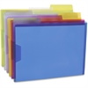 "Pendaflex Poly View Folders - Letter - 8 1/2"" x 11"" Sheet Size - 1/3 Tab Cut - Poly - Blue, Magenta, Yellow, Purple, Lime, Ice - 6 / Pack"