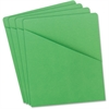 "Smead Colored Slash Jackets - Letter - 8 1/2"" x 11"" Sheet Size - 1 Front Pocket(s) - 11 pt. Folder Thickness - Manila - Green - Recycled - 25 / Pack"