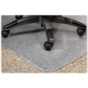 "Lorell PlushMat Chair Mat - 60"" Length x 46"" Width x 0.13"" Thickness - Lip Size 12"" Length x 25"" Width - Rectangle - Vinyl - Clear"