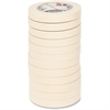 "Highland Highland Masking Tape - 1"" Width x 60 yd Length - 3"" Core - Rubber Backing - 12 Roll - Tan"