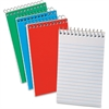 "Oxford Recycled Pocket Memo Book - 60 Sheets - Printed - Wire Bound - 15 lb Basis Weight 3"" x 5"" - White Paper - Blue, Green, Red Cover - Pressboard Cover - 3 / Pack"