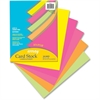 "Pacon Array Printable Multipurpose Card - Letter - 8.50"" x 11"" - 65 lb Basis Weight - Recycled - 100% Recycled Content - 100 / Pack - Assorted"