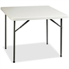 "Lorell Banquet Folding Table - 29"" Height x 36"" Width x 36"" Depth - Gray, Powder Coated"