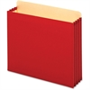"Globe-Weis File Cabinet Pocket - Letter - 8 1/2"" x 11"" Sheet Size - 875 Sheet Capacity - 3 1/2"" Expansion - 22 pt. Folder Thickness - Tyvek - Red - 10 / Box"