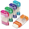 "Portable Pencil Sharpener with Eraser - 1 Hole(s) - 2.6"" Height - Assorted"