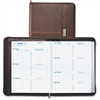 """Day-Timer Coastlines Planner - Weekly - 1 Year - January 2017 till December 2017 - 7:00 AM to 6:00 PM - 1 Week Double Page Layout - 8.50"""" x 11"""" - Wire Bound - Zippered Closure - Brown - Notepad"""