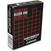 """Kleer-Fax 1/3 Cut Hanging Folder Tab - Blank Tab(s)3.50"""" Tab Width - Clear Plastic Tab(s) - 25 / Box"""