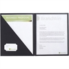 "GBC® Cover Letter Portfolio - Letter - 8 1/2"" x 11"" Sheet Size - 30 Sheet Capacity - 1 Internal Pocket(s) - Paper Stock - Black - 4 / Pack"