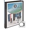 "Business Source Standard Presentation Binder - 1/2"" Binder Capacity - Letter - 8 1/2"" x 11"" Sheet Size - 25 Sheet Capacity - Ring Fastener - 1 Internal Pocket(s) - Black - 1 Each"