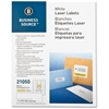 "Business Source Mailing Label - Permanent Adhesive - 1"" Width x 2.63"" Length - Rectangle - Laser - White - 3000 / Pack"