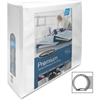 "Wilson Jones CleanView Locking View Binder - 3"" Binder Capacity - Letter - 8 1/2"" x 11"" Sheet Size - Round Ring Fastener - White - 1 Each"