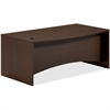 "Mayline Brighton Bow Front Desk - 72"" x 39"" x 29"" - Finish: Laminate, Mocha"