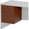 "Mayline Brighton Suspended Pedestal - 15.8"" x 19.5"" x 20"" - Finish: Cherry"