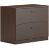 "Mayline Brighton BTFLF36 Lateral File Cabinet - 36"" x 20"" x 29"" - Legal - Lateral - 75 lb Load Capacity - Ball-bearing Suspension, Lockable - Mocha"