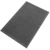 "Genuine Joe Eternity Mat - Indoor - 72"" Length x 48"" Width - Plastic, Rubber - Charcoal Gray"